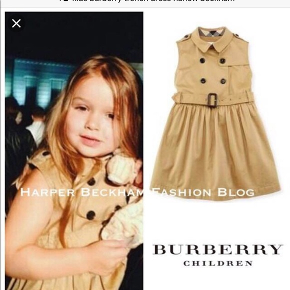 b4f9f1efe Burberry Dresses | Girls Sleeveless Trench Dress | Poshmark